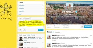 IC Tweet 2 to Pope Benedict