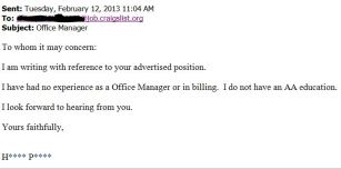 Response Office Manager Ad