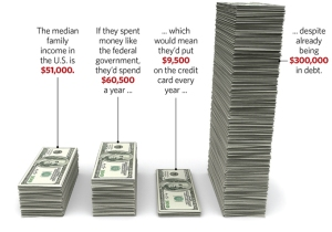 What if a typical family spent like government?